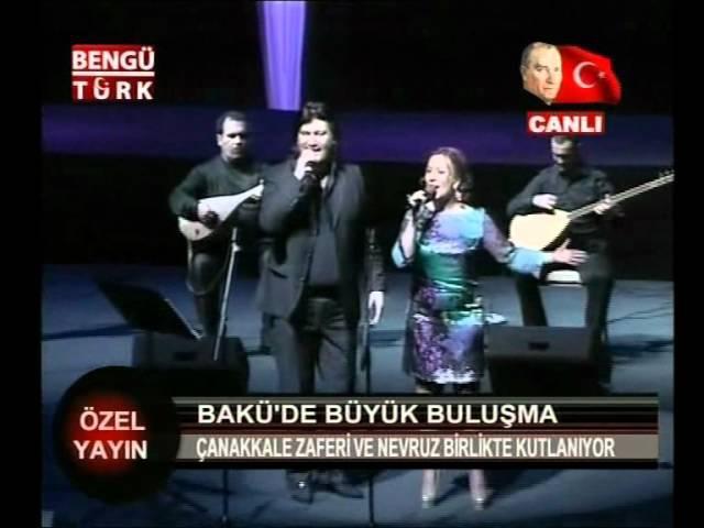 Tunzale Agayeva Ahmet Şafak - Yaşa Benim Halkım { Bakü Konseri } 19.03.2011