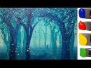 Рисуем волшебный ЛЕС акрилом / How to paint a magic forest with acrylic