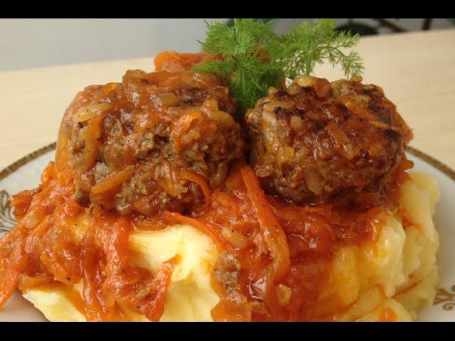 Тефтели Очень Вкусно и По Домашнему Homеmade Meatballs English Subtitles