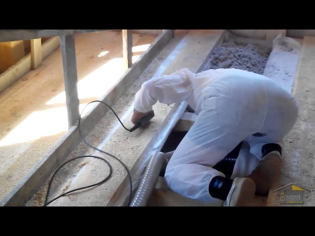 Задувка Эковаты в закрытые полости (полы,перекрытия)200мм.