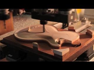 Dbz guitars bolero cnc time lapse