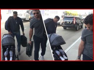 Russell Wilson and Baby Future But, Wheres Ciara! (TMZ TV)