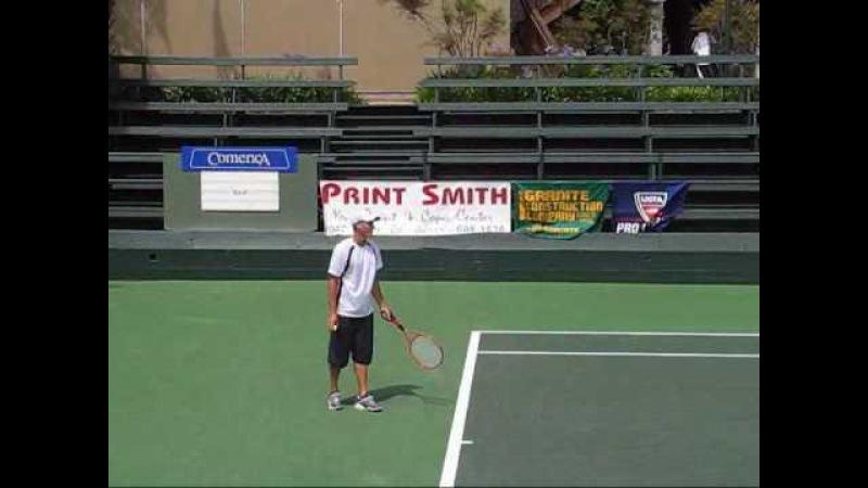 Brian Battistone's Unique Racquet and Serve (Hi-Q)