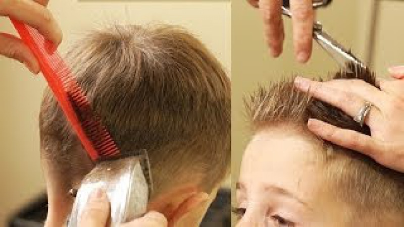 HOW TO CUT BOY'S HAIR Taper Fade Haircut with No attachments