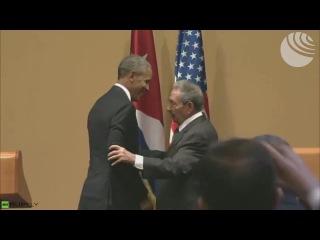 Барак #Обама шут vs Рауль #Кастро