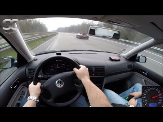 VW Golf 4 Variant 1.9 TDI (2002) on German Autobahn - POV Top Speed Drive