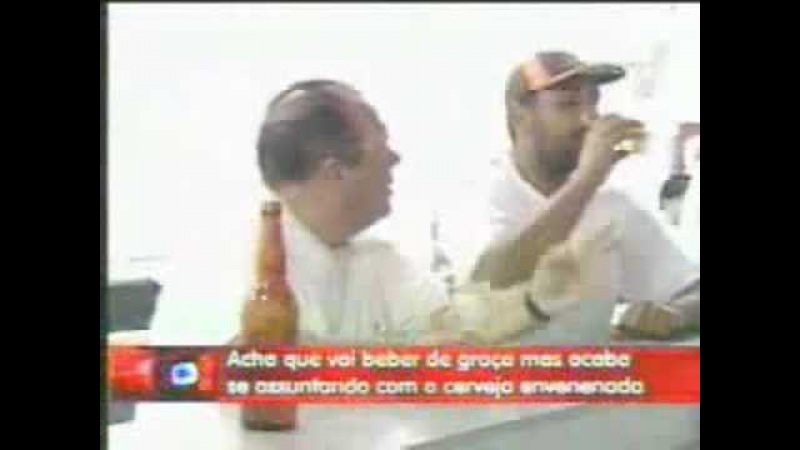 Pegadinha João Kléber Cerveja Envenenada