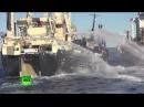 Морской бой в Антарктике ВИДЕО