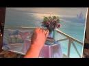 Столик с видом на море. Игорь Сахаров.Урок живописи.