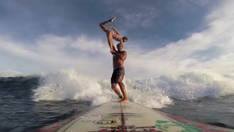 GoPro UHD Tandem Surfing with Kalani Vierra and Krystl Apeles