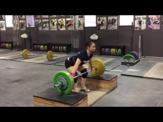 Alyssa Sulay Block Snatch 82kg at 63kg Bodyweight