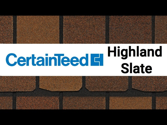 Битумная черепица CertainTeed Highland Slate обзор