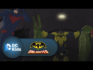 Red Robin and Nightwing Take Down Killer Croc | Batman Unlimited | Episode 3