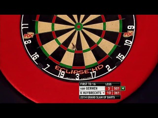 Kim Huybrechts vs Michael van Gerwen (Grand Slam of Darts 2014 / Quarter Final)