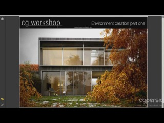 Making of Single family house in autumn mood in 3DS Max