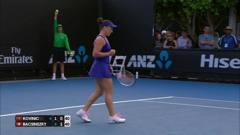 Kovinic v Bacsinszky match highlights 2R Australian Open 2017