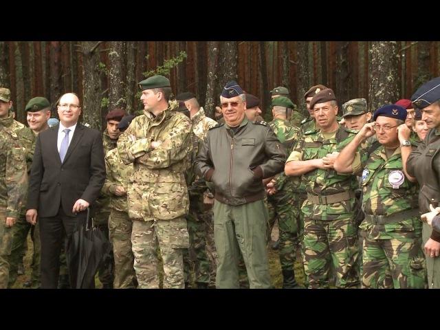 Pratybose Ugninis griausmas Lietuvos kariai išbandė savaeiges haubicas PzH2000