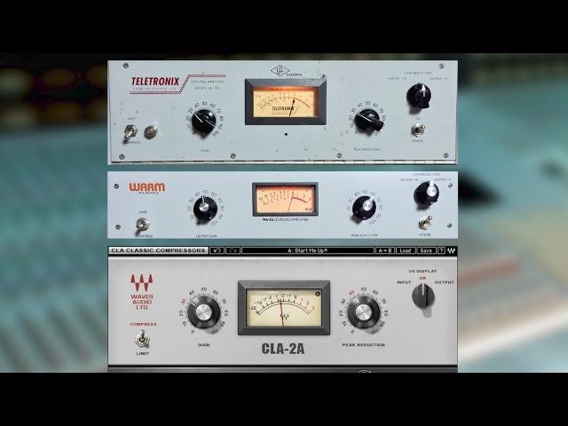 Teletronix LA-2A vs. Warm Audio WA-2A vs. Waves CLA-2A