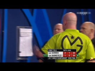Michael van Gerwen vs Raymond van Barneveld (PDC World Darts Championship 2017 / Semi Final)