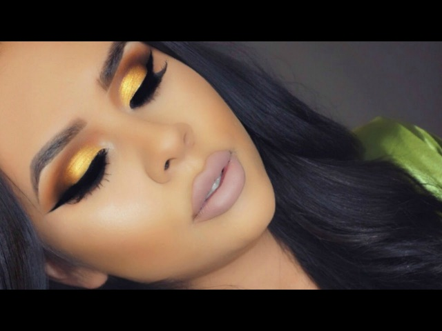 Vibrant Yellow Gold Eye Look Nude Lips