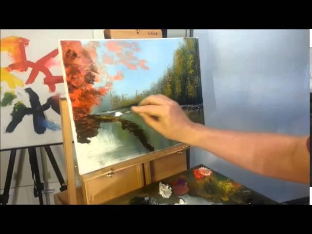 Художник Александр Григорьев. Мастеркласс, рисуем вместе, быстрый рисунок маслом.