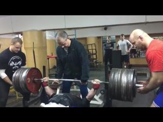 Дмитрий Инзаркин - жим лежа 300 кг в майке