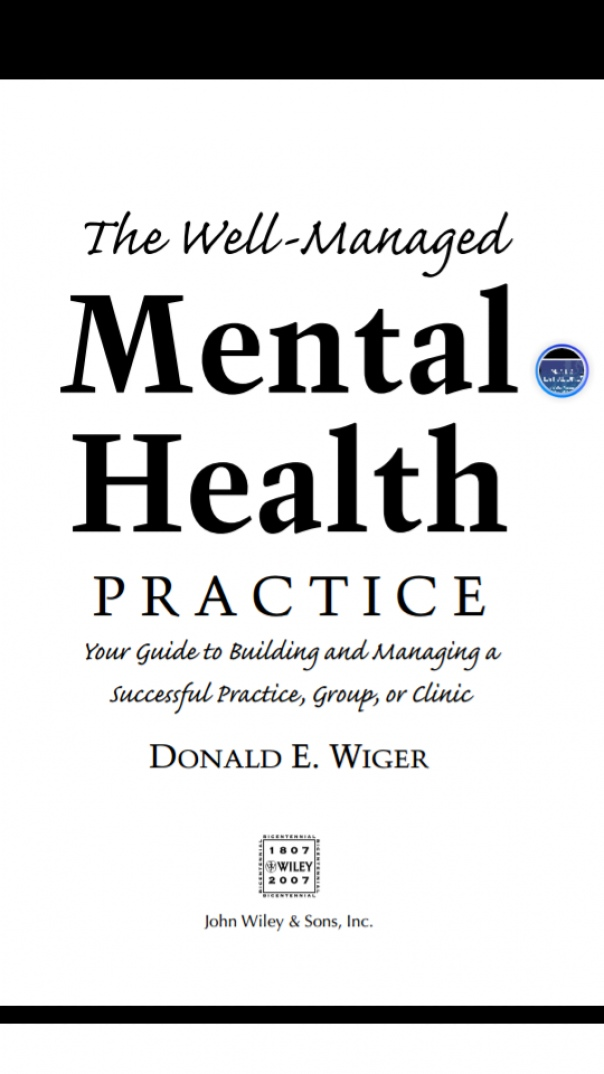 The Well-Managed Mental Health Practice