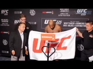 Йоэль Ромеро официальное взвешивание к турниру UFC225 первая попытка