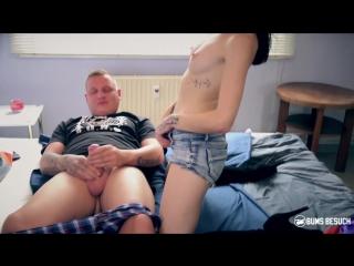 BumsBesuch Hot brunette porn star Lullu Gun enjoys wild gonzo fuck with amateur guy () rq