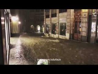 Flooding in Lausanne, Switzerland, june 11, 2018   Ливневый паводок в Лозанне, Швейцария,