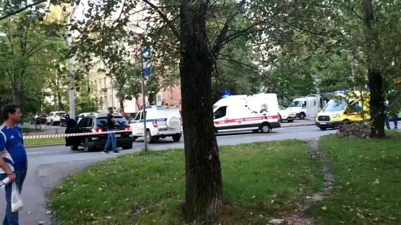 Видео с места стрельбы на улице Костюшко