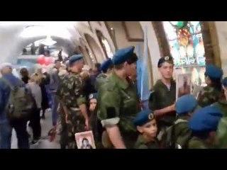 Трогательно Дети из ЛНР в московском метро спели гимн Луганска          Полное видео