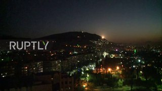 Syria: Gov. forces mount defence of Damascus following US-led airstrikes