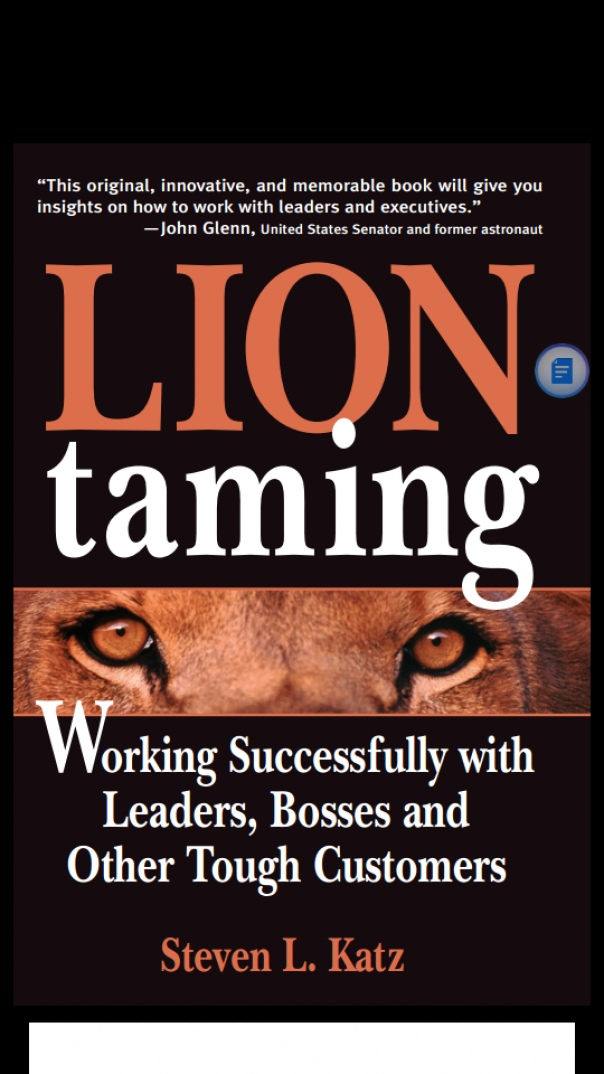 Lion Taming Working Successfully with Leaders