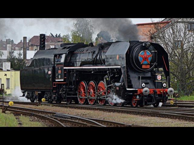 Návrat parní lokomotivy 475.179 z Wolsztynu v úseku Turnov - Okna 1.5. 2017