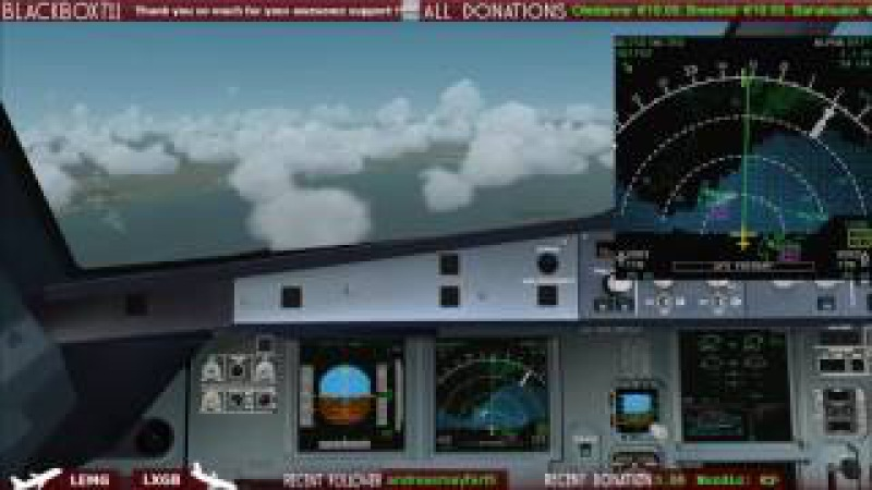 Dual Eng Failure Live on Twitch Glide Approach into Gibraltar LXGB FSX FSLabs A320 X