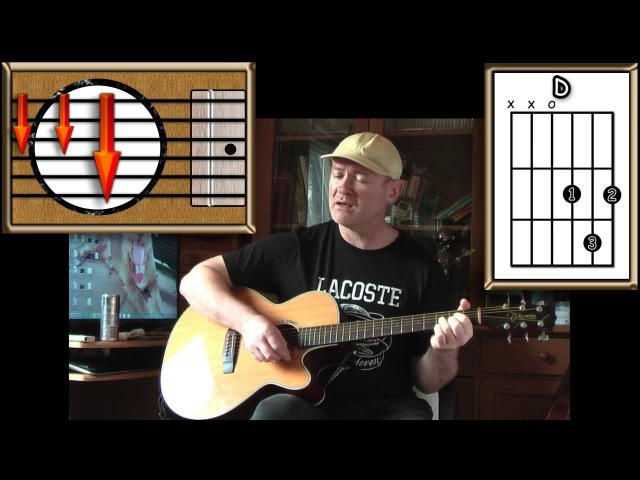 Four Seasons In One Day Crowded House Acoustic Guitar Lesson easy ish