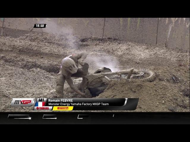Romain Febvre Crash MXGP of Russia Race 1