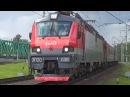 Электровоз ЭП20-038 Олимп с фирменным поездом №102 Москва - Адлер