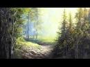 Sunlit Riverbed Landscape Painting Art