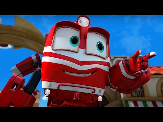 Мультфильм для детей про паровозики Роботы поезда 🚄 Сборник любимых серий 💕🚄