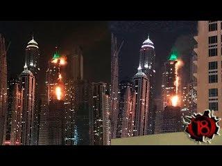 В Дубае горит один из высочайших небоскребов в мире ()