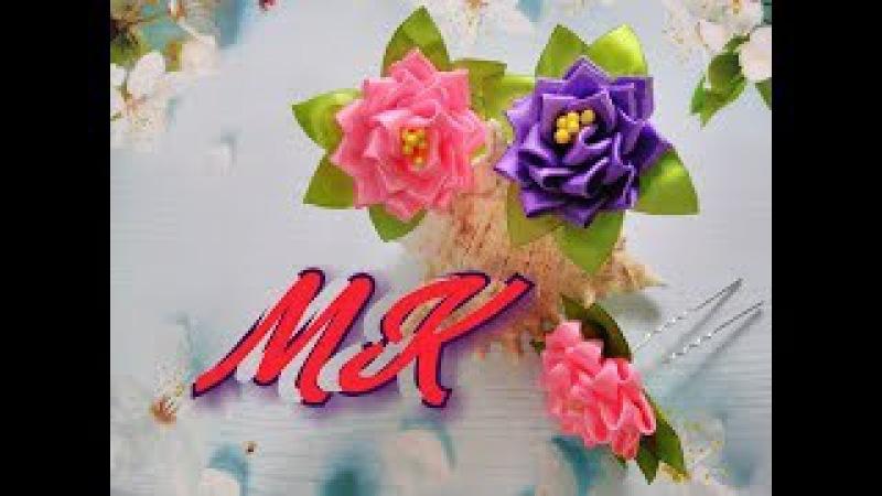 Шпилька для волос, быстрая сборка цветочка / Alça de cabelo, montagem rápida de flores
