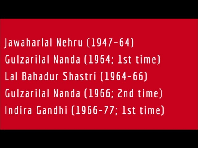 Tenures of PMs in democratic india 1947 to 2019 list