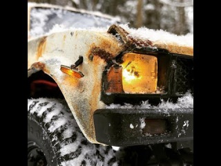 RC scale studio Trucks OFF Road Snow Adventures Rc4WD Trail Finder 2  forest run Rusty Hilux part 2