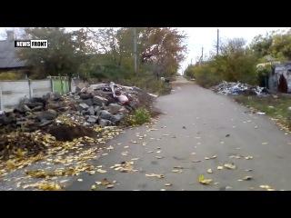 Воскресный вечер «перемирия» в прифронтовых районах Донецка