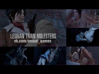 Lesbian Train Molesters (Tomb Raider, Resident Evil, Mirror's Edge, Dead or Alive, Tekken sex)