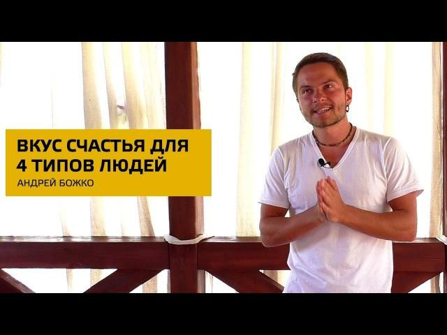 Вкус счастья для 4 типов людей Андрей Божко Соционика Стихий