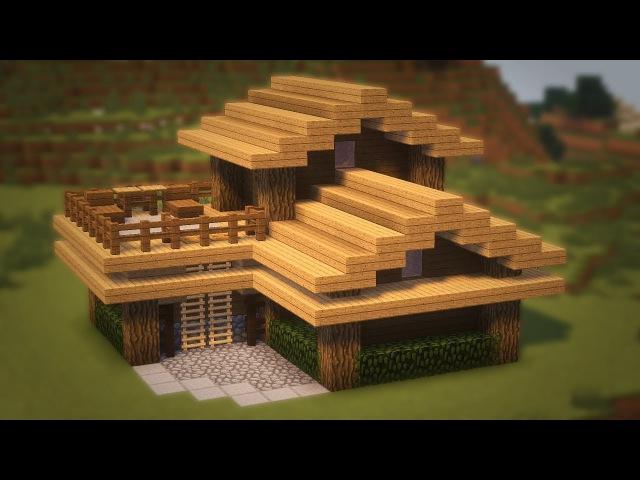 как построить начальный и красивый дом в майнкрафт #6