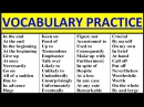 ENGLISH VOCABULARY PRACTICE INTERMEDIATE ADVANCED Vocabulary words English learn with meaning